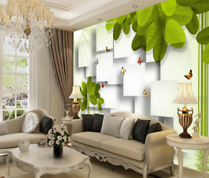 3D Sonne Baum Schmetterling 46 Tapete Tapeten Mauer Foto Familie Wandgemälde