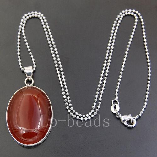 23x30mm Natural Gemstone Reiki Chakra Healing Pendant Necklace Jewelry Beads