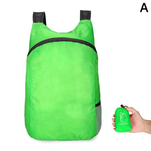 Waterproof Nylon Foldable Backpack Black Cycling Outdoor Sports Bag Portable