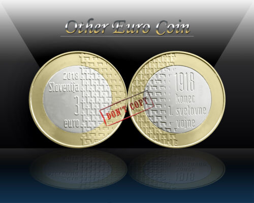 End of the First World War SLOVENIA 3 EURO 2018 UNC Commemorative Coin