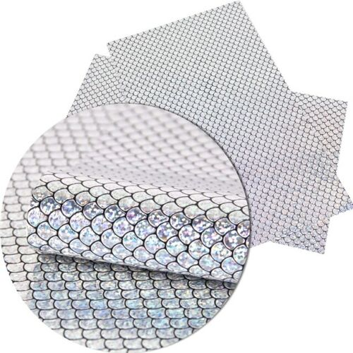 Mermaid Scale Holographic Scuba Fabric Sheet Crafts Bows UK Based
