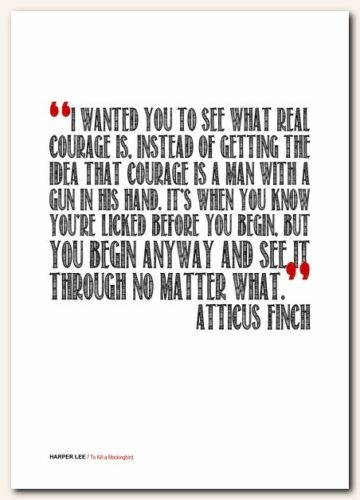 ❤ HARPER LEE To Kill a Mockingbird ❤ typography book quote poster print #76