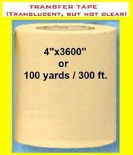 4 Application Transfer Paper Tape 300 Ft Roll For Vinyl Plotter Cutter Fresh