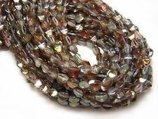 5x4mm Golden Rose Crystal Luster Czech Glass Pinch Beads (50) #3529