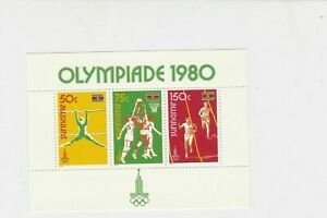 Suriname Olympics 1980 Mint Never Hinged Stamps Sheet R17702