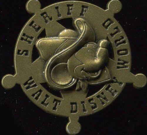 WDW Sheriff Mickey Brass Star Disney Pin 40721