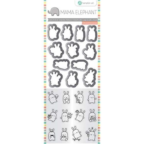"""Mama Elephant Clear Stamp /& Die Set 4.125/""""x10.5/""""-mini Bunny Agenda"""