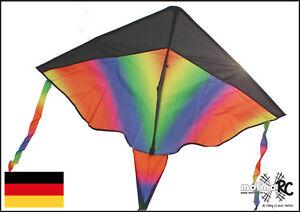 Wunderschoener-Drachen-Rainbow-Drache-Regenbogen-inclusive-30m-Drachenschnur-BRD