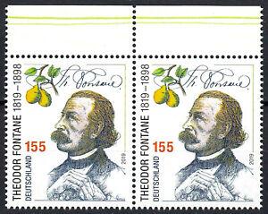 3508-postfrisch-Paar-waagerecht-Rand-oben-BRD-Bund-Deutschland-Briefmarke-2019