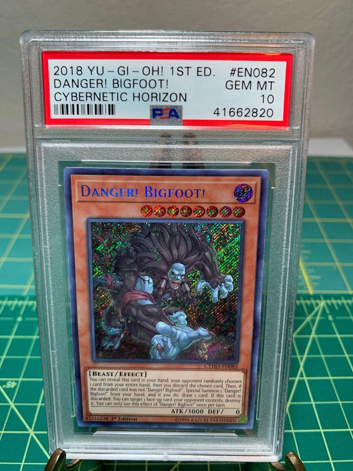 PSA 10 Gem Mint Mint Mint Yugioh Danger  Bigfoot  1st Edition CYHO-EN082 Secret Rare Pop 2 02a77b