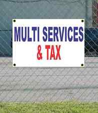 2x3 MULTI SERVICES & TAX Red White & Blue Banner Sign NEW Discount Size & Price