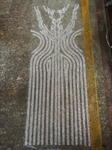DIY GORGEOUS DRESS BACK DESIGN SPARKLE GLITTER MESH LACE BY THE YARD
