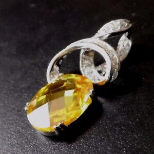 Luxus-Facetten-Saphir-Weisstopas-Anhaenger-925er-Silber-rhodiniert-30-x-15-mm