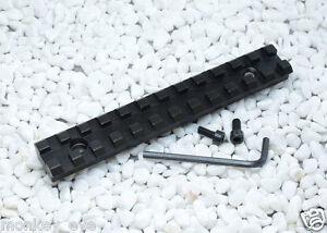 New 257X20mm LONG PICATINNY RAIL WEAVER 25 Slots PB