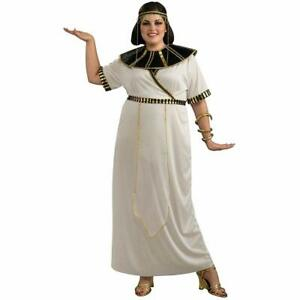 37ac6a54a05 Details about Egyptian Girl Queen Cleopatra Fancy Dress Up Halloween Plus  Size Adult Costume