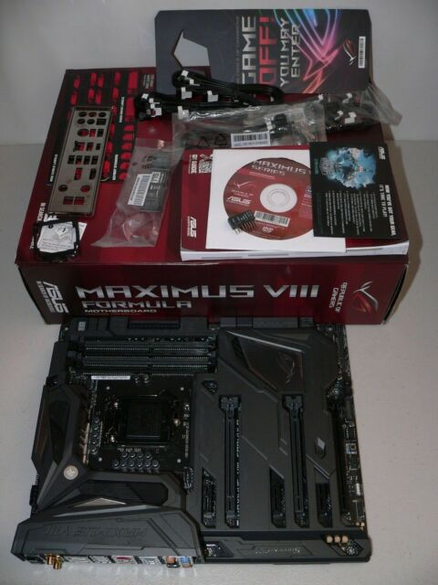 Asus Maximus VIII Formula LGA1151 DDR4 HDMI D-DVI Motherboard Latest Bios 3801