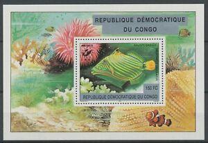 [58] Congo Rep. Bloc 179**, poisson - Superbe. Cote : 23 €