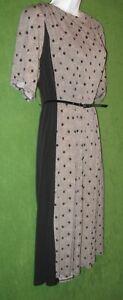 Jessica-Howard-Black-Tan-Dot-Zig-Zag-Jersey-Belt-Work-Social-Dress-24W-PLUS-99