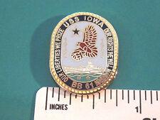 USS IOWA - hat pin ,  lapel pin , tie tac , hatpin GIFT BOXED