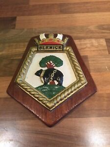 Vintage-Ships-Plaque-HMS-034-BERWICK-034-Maritime-Royal-Navy-Boat-Nautical-Boat