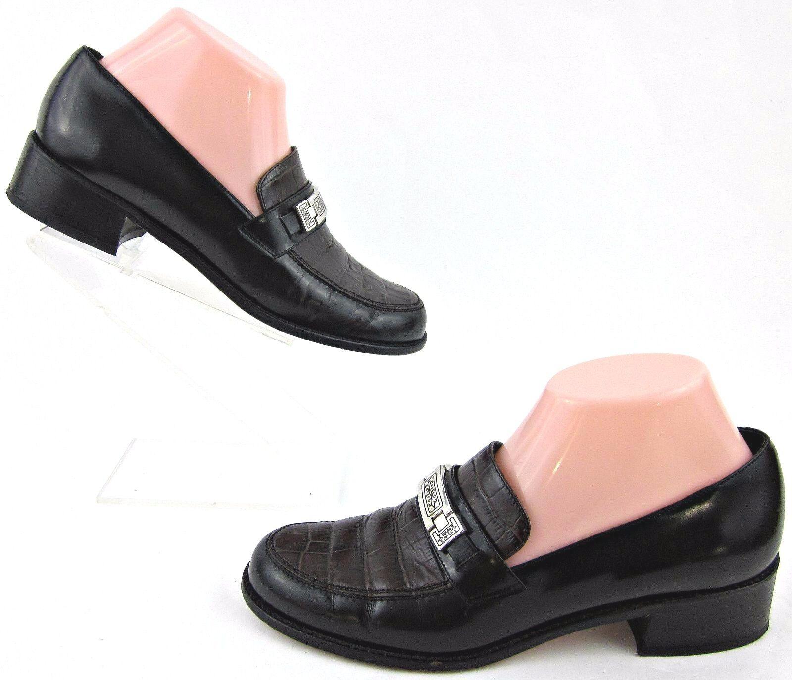 Brighton 'Diane' Loafers nero Marronee Leather 7.5M fatto In