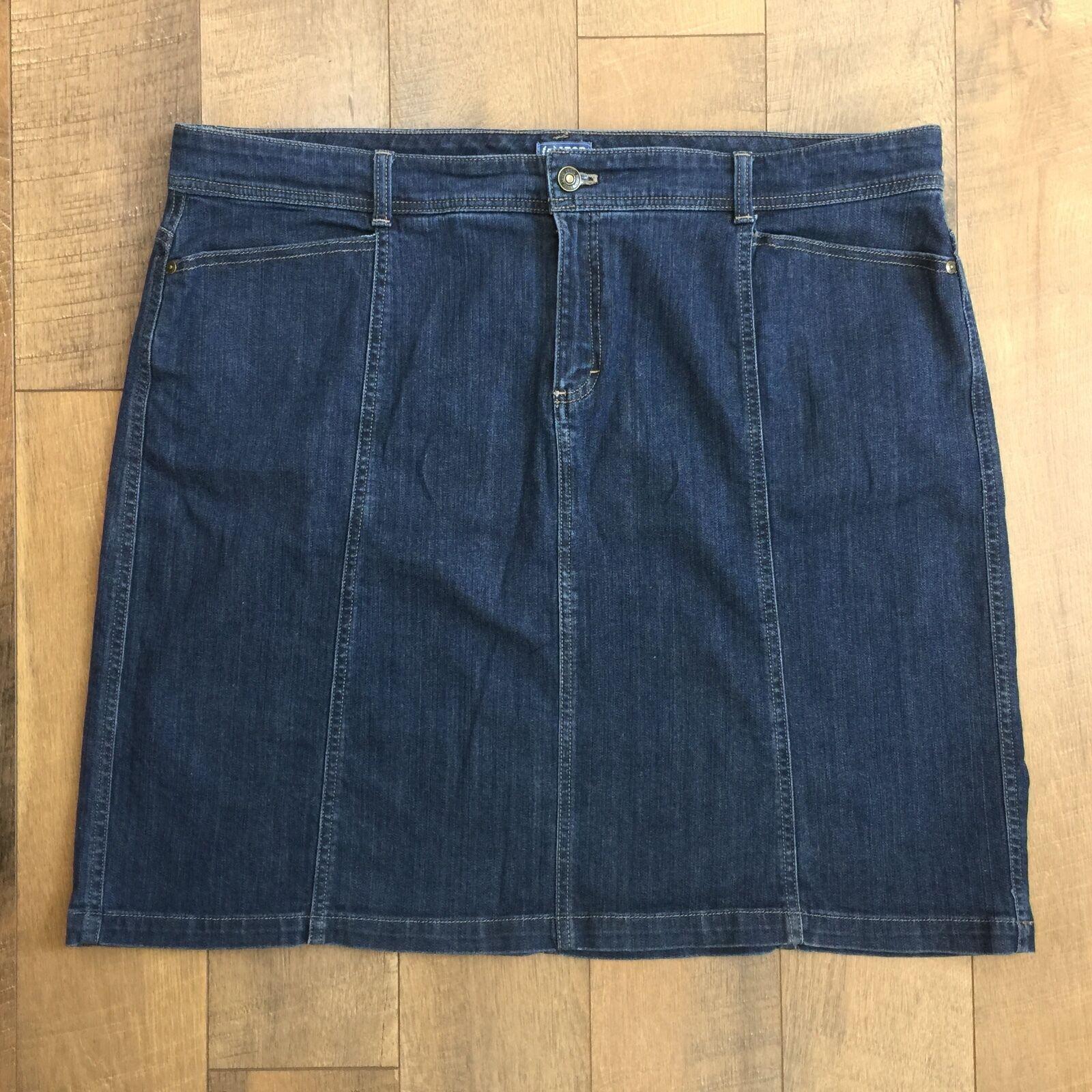 IZOD bluee Stretch Denim Skirt Comfortable Cool Worn Twice No Slit Womens Sz 20W