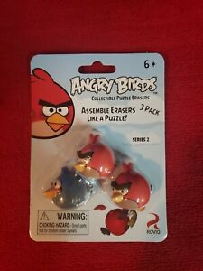 ANGRY BIRDS Eraseez LOT of Puzzle Eraser Packs 3 Characters In EACH Pack! 2