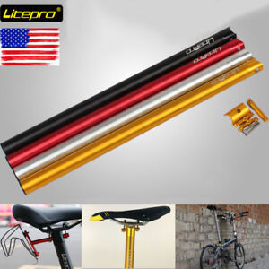 Litepro-Full-CNC-Folding-Bike-Seatpost-33-9-600mm-Dahon-Bicycle-Seat-Post-Tube