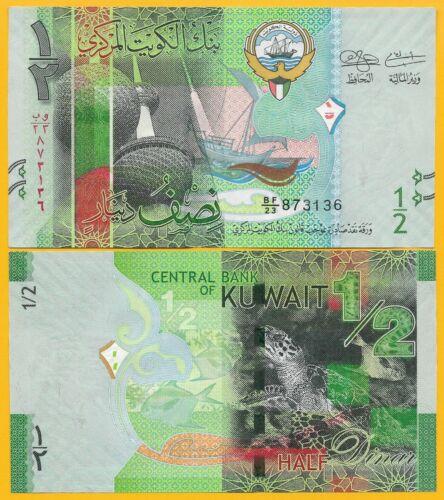 Dinar p-30 2014 UNC Banknote Kuwait 1//2 half