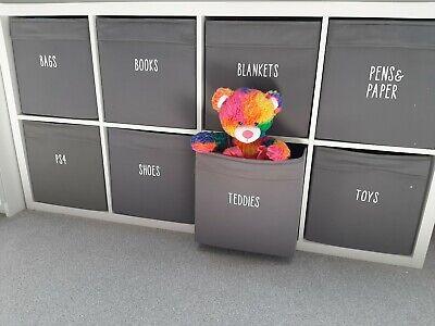 Customised Personalised Toys Names Drawer Vinyl Stickers Labels Organiser Box