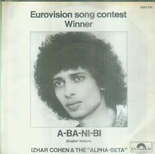 """7"""" Izhar Cohen & The Alpha Beta/A Ba Ni Bi (English Version) 1978"""