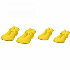 Good2Go Rain or Shine Yellow Silicone Dog Boots Size Extra Small ... bfc1c8a2a67b