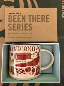 Starbucks Coffee Been There Series 14oz Mug INDIANA Cup w/SKU