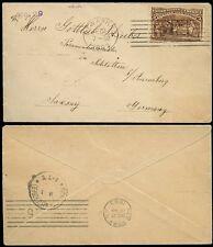 USA 1893 COLUMBUS 5c FINE SOLO FRANKING to SAXONY