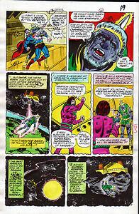Superman #312 Page 11 Hand Colored Printer Guide Inked By Frank Springer 6/77 Dc Elegant And Graceful Original Comic Art