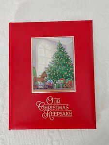 Vintage-OUR-CHRISTMAS-KEEPSAKE-Hallmark-Book-Of-Memories-Photos-Songs-1987