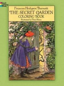 SECRET GARDEN Story Coloring Book Theo Klivos Reissue 2014 Stock Photo