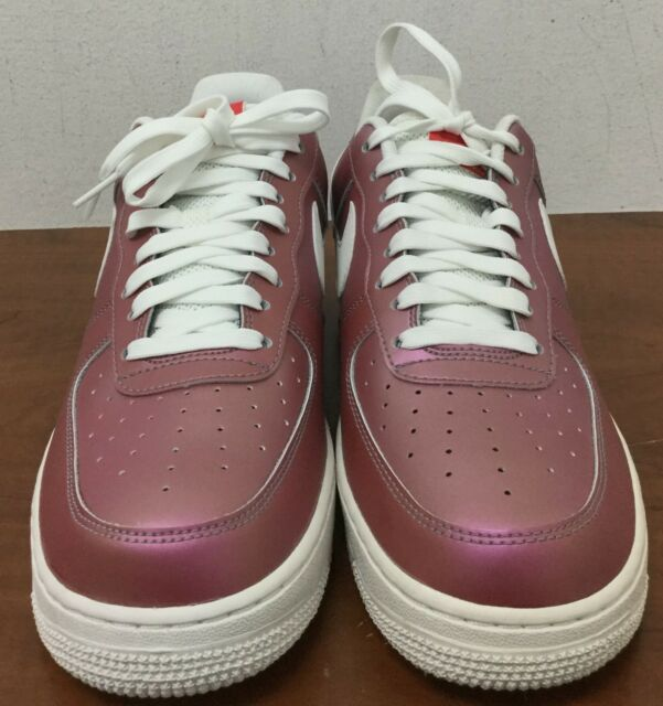 Buy Men s Nike Air Force 1  07 Lv8 Shoes Size 8.5 Track Red White ... c3dcb9863