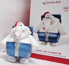 HALLMARK 2014 I Want You to Want Me Cheap Trick Elephant Ornament Magic Music