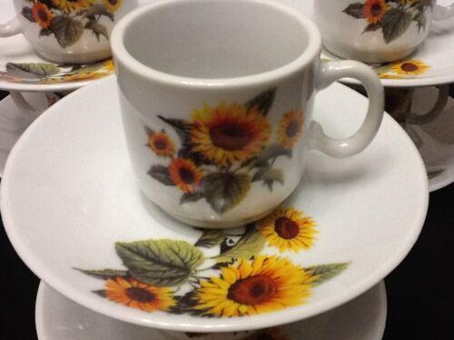 12 pc 2oz Cuban Espresso Coffee Cup Set.Cafe Cubano Cafesito SUNFLOWER Tacita