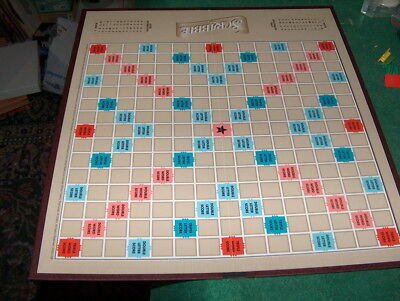 tan  SCRABBLE GAME BOARD  ONLY brown