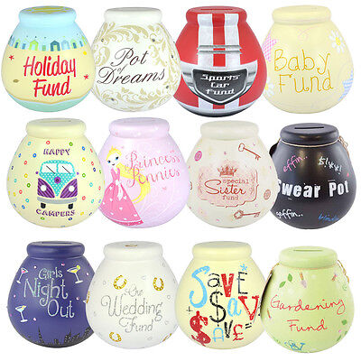 Pot of Dreams Money Box Savings Bank Various Designs Available