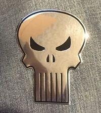 THE PUNISHER Heavy Duty Metal STICKER Marvel chrome silver emblem decal smvl-8-m