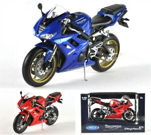 NEW-Welly-1-10-Triumph-Daytona-675-Motorcycle-Model-X1PC-amp-Collection-Gift