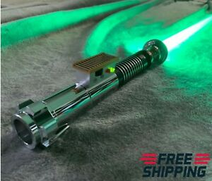Hot-Star-Wars-Luke-Skywalker-Lightsaber-Silver-Metal-16-Colors-RGB-Light-Replica