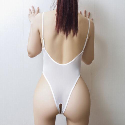 Lingerie Women/'s Mesh Sheer Leotard Thong High Cut One Piece Bodysuit Sleepw yx