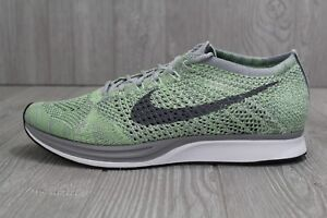 25b43319164a 30 NEW NIKE FLYKNIT RACER WHITE-GHOSTS GREEN SHOES SZ MENS 10.5 15 ...