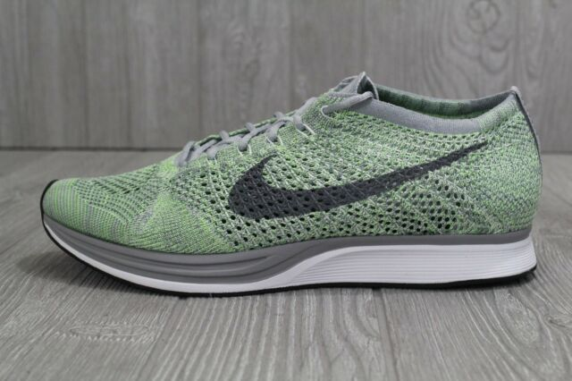 30 NEW NIKE FLYKNIT RACER WHITE-GHOSTS GREEN SHOES SZ MENS 10.5 15 526628-103