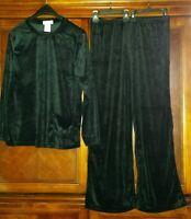 Women's Black Velour Lounge Suits Polyester Paragon Warm Soft