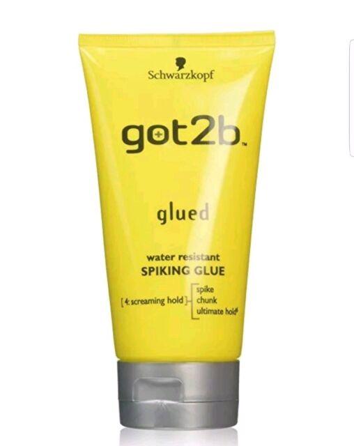 SCHWARZKOPF GOT2B GLUED SPIKING GLUE 150ml Water Resistant Gel SCREAMING HOLD